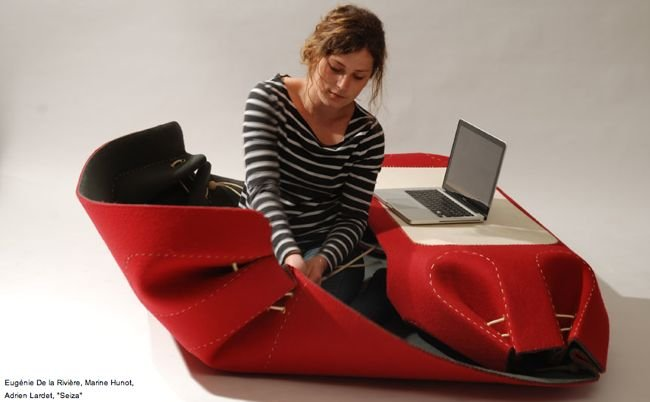 Mini oficina port til hecha con hilo y tela blogcruvi for Oficina portatil