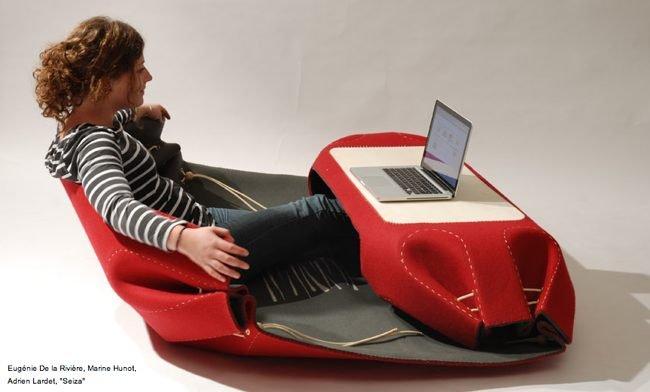 Mini oficina port til hecha con hilo y tela blogcruvi - Mesa de dibujo portatil ...